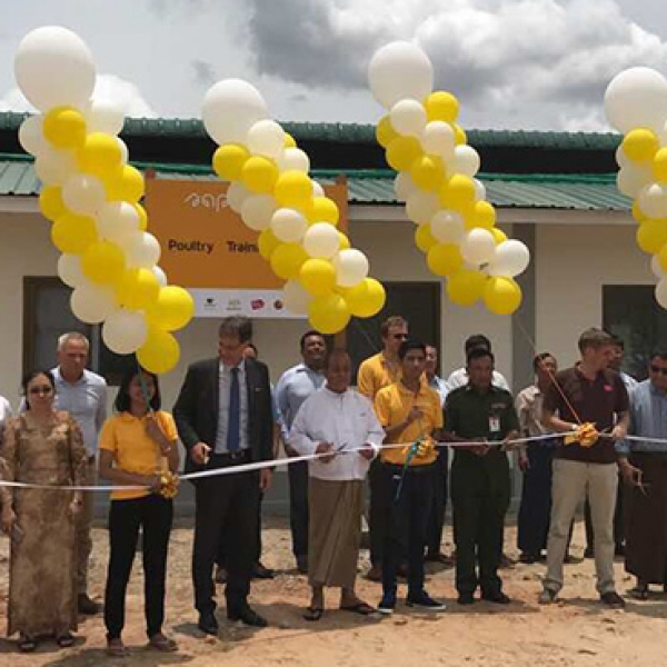 Successful opening of the 2nd Poultry Training Centre at Nay Pyi Taw